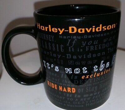 Harley Davidson Coffee Mug Black Its Not the Destination Its the (Its Not The Destination Its The Journey)