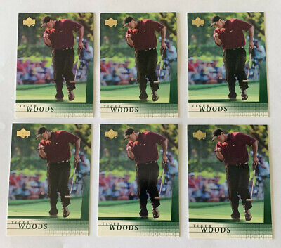 Lot of 6 Tiger Woods 2001 Upper Deck #1 RC ROOKIE Masters Champion 10 A