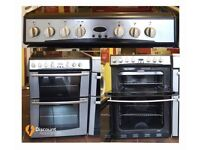 60cm Refurbished Belling Ceramic Cooker, Double Oven / Grilll - 6 Months Warranty