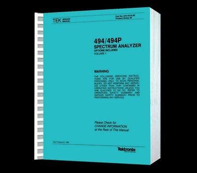 Tektronix 494 Spectrum Analyzer Hi Resolution Paper Reprinted Service Vol1 Cd