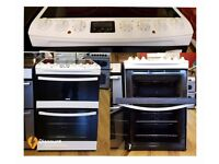 60cm ZANUSSI ZCV68310WA Electric Ceramic Cooker, Double Oven /Grill - 6 Months Warranty