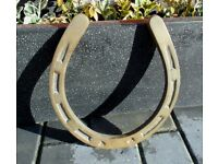 (#662) large Brass horseshoe horse shoe (Pick up only, Dy4 area)