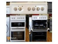 50cm Hotpoint Ceramic Cooker, Fan Assisted Oven & Grill - 6 Months Warranty