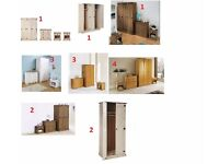 Brand New Solid Pine Bedroom Set Sets Mexican Pine Classic Pine Set Wardrobe Drawer Chest Bedside