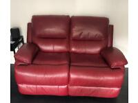 2 Seater & 3 Seater Leather Recliner Sofas