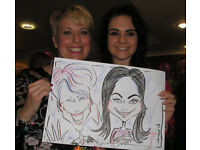 Caricaturist Entertainer for weddings, parties & events.