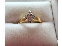 Beautiful 4 diamond 9ct gold engagement ring