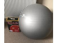 Super ball gym & fit. Swiss ball. Boxed. Collect darlington.