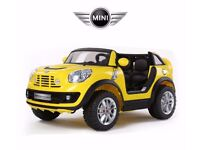 BRAND NEW BMW MINI BEACHCOMBER TWO SEATER 12v RIDE ON CAR