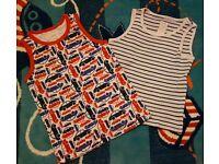 Mini Club Boys Car & Stripe Design Vests Pack Of 2 : Age 3-4 years