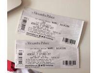 x2 LORDE ALEXANDRA PALACE!! WEDNESDAY 27TH SEPTEMBER