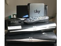 Sky Plus HD x2, Sky On Demand Connector Box, 2 x Remotes & Broadband Router