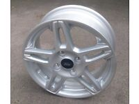 Alloy wheel for a Ford Fiesta Zetec 2013 plate
