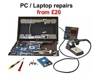 PC and laptop repairs, no fix no fee,prices from £20