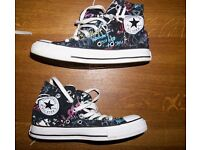 Black Multi-coloured Print Converse UK Ladies Size 5