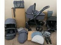 egg Pram / Pushchair / Stroller Quantum Grey 🥚 Special Edition Set Travel System
