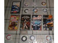 PSP GAMES JOBLOT 15 BARGAIN PRICE