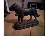 Cast iron dog doorstop (sold subject to collection)