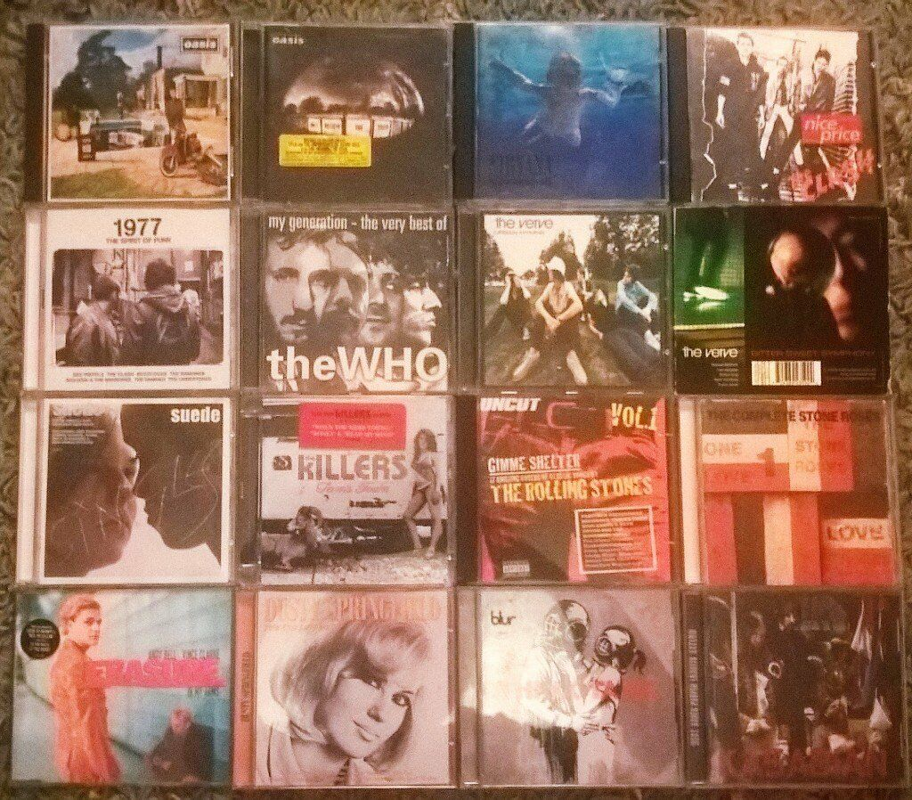 Rock, Indie CDs X55, job lot