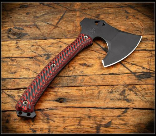 RMJ Tactical Tomahawk Weezerker Black Widow Graphite Black Black/Red G10
