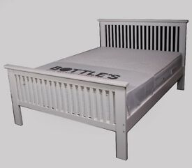 White wooden shaker bed
