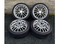 "18"" alloy wheels tyres 5x112 Audi MK2 TT A3 VW MK5 Golf Mercedes C class W204"