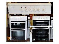 60cm Beko Ceramic Cooker, Double Oven / Grill - 6 Months Warranty