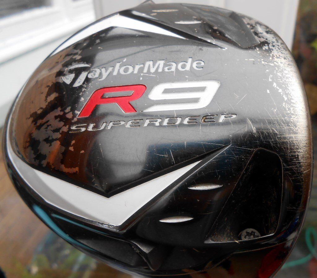 Taylor made R9 Superdeep BBLB driver with s flex shaft & head cover £49