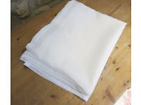 "Brand New Soft White Voile Curtain 90"" x 59"""