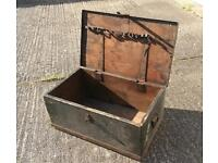 Wooden tool box - lockable with side handles