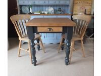 Pine Farmhouse Shabby Chic Country Rustic Style Kitchen Table