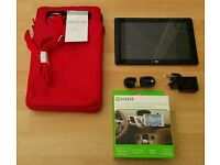 """Windows 8.1, 10.1"""" Tablet, 32 GB SSD, 2GB RAM + Charger, In-Car Mount & New Protective Carry Case"""