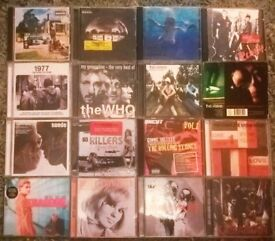 Job Lot CDs X 55, rock, indie, Nirvana, stone roses,Oasis,The Who,The Verve
