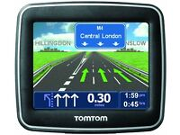 SAT NAV TOM TOM START 1GB MEMORY WITH UK MAPS. INCLUDES ORIGINAL CHARGER AND WINDOW SUCTION MOUNT