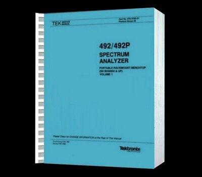 Tektronix 492 Spectrum Analyzer Hi Resolution Paper Reprinted Service Vol1 Cd