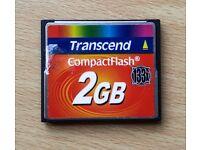 Transcend 2Gb Compact Flash Memory