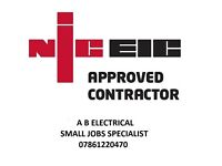 Electrician. Small jobs specialist ------ 07861220470