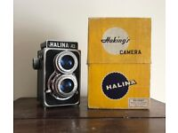 Halina twin lens reflex camera, like rolleiflex, case + box