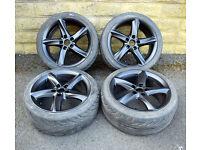 """18"""" alloy wheels tyres 5x112 Audi MK2 TT A3 A4 S3 Vw Golf MK5 MK6 Seat Leon MK2"""