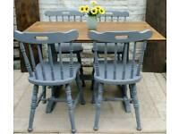 Rustic Farmhouse style shabby chic kitchen/Dining table and four chairs
