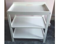 White Wooden Changing Table Obaby Brand