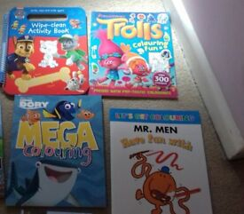 BRAND NEW CHILDREN'S ACTIVITY BOOKS X 7
