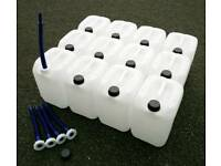 12 Plastic 18L drum container bottles / water or fuel