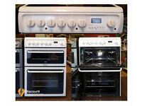 60cm Hotpoint Ceramic Cooker, Double Oven / Grilll - 6 Months Warranty