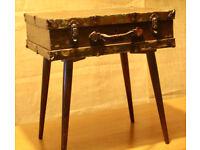 Vintage suitcase side-table