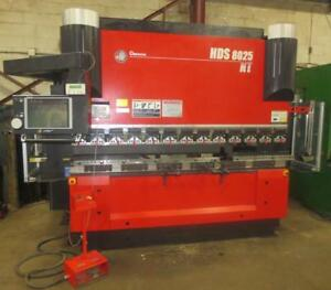 88 Ton x 102, Amada, 2012, HDS 8025NT, 8-Axis CNC Hydraulic Press Brake
