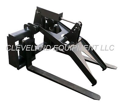 New Adjustable Fork Grapple Attachment Bobcat Skid-steer Loader Hydraulic Pallet
