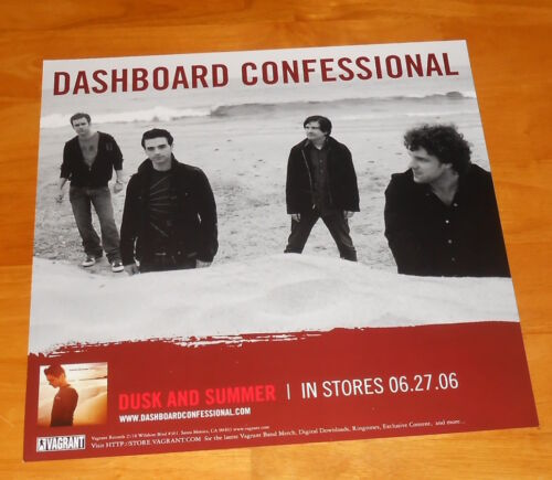 Dashboard Confessional Dusk and Summer Poster 2-Sided Flat 2006 Promo 12x12