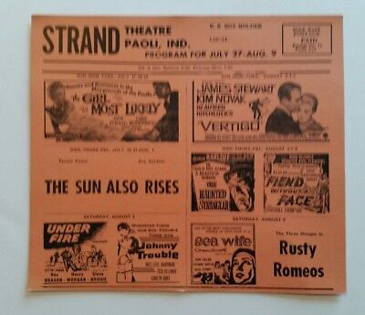 MOVIE THEATRE FLYER 1950's SciFi FIEND WITHOUT A FACE&HAUNTED STRANGLER Drive-In