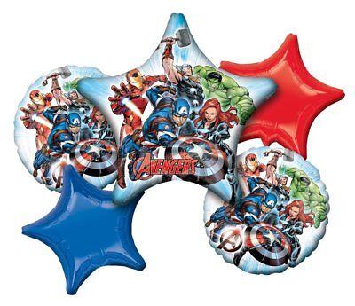 Disney Marvel Avengers Happy Birthday 5pc Mylars Bouquet Foil Balloons  - Happy Birthday Avengers